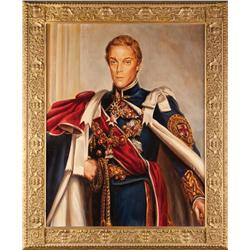 "Large painting of Richard Chamberlain as ""King Edward VIII"" from The Woman I Love"