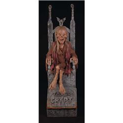 Cryptkeeper chair and Cryptkeeper model from Tales from the Crypt