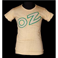"""OZ"" screen-worn T-shirt from Emerald City worker in The Wizard of Oz"