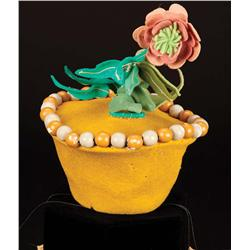 "Original screen-worn Munchkin ""flower pot"" hat from The Wizard of Oz"