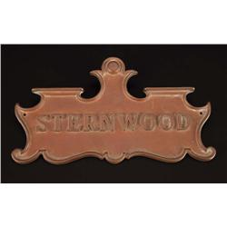 The Big Sleep original bronze door-plaque for the Sternwood residence