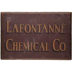 LaFontanne Chemical Co. wooden sign from Charlie Chan film Docks of New Orleans