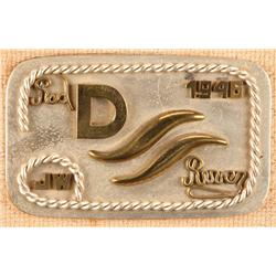 Red River D-Ranch custom belt buckle plaque commissioned by John Wayne for Howard Hawks