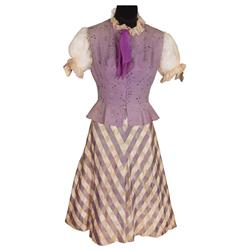 "Judy Garland ""Hannah Brown"" 2-piece ivory & lavender dress w/ vest & addl slip frm Easter Parade"