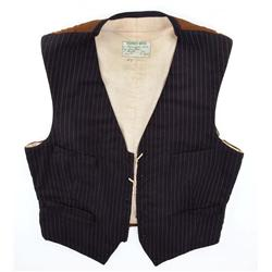 "James Dean signature screen-worn ""Jett Rink"" vest from Giant"