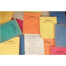 Irish McCalla's personal archive of (18) orig 1955 teleplay scripts for Sheena: Queen of the Jungle