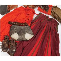 Roman Centurion capes & bkgrnd robes, sashes, wrps, & sandals, scrn-wrn in MGMs '59s Ben-Hur