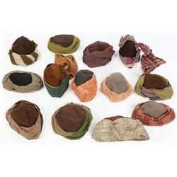 Collection of (13) decorated Jewish peasant hats screen-worn in the 1959 Ben-Hur