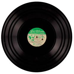 Walt Disney 33rpm acetate master disc from Mary Poppins