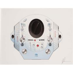 Simon Atkinson space pod orig art pblshd in Filming the Future: The Making of 2001: A Space Odyssey