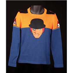 A Clockwork Orange limited custom-made sweater commissioned by Stanley Kubrick for cast and crew