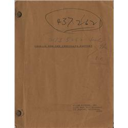 Original hand-annotated script by director Mel Stuart from Willy Wonka & the Chocolate Factory