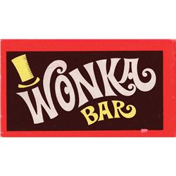 "Original prop ""Wonka Bar"" from Willy Wonka & the Chocolate Factory"