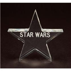 """""""Star Wars"""" Lucite pprwght crw gft & orig filmstrip of Death Star explosion sequence from Star Wars"""