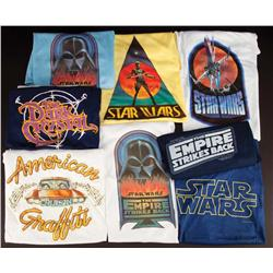 Collection of Star Wars and The Empire Strikes Back crew t-shirts