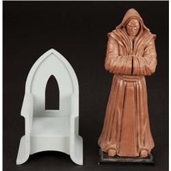 Jedi temple statue clay sculpt and Yoda chair from Star Wars: Episode III - Revenge of the Sith