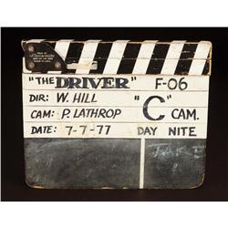 Set-used clapper from The Driver