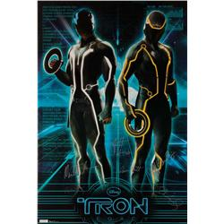 Tron: Legacy premiere poster signed by principal cast members