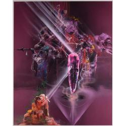 The Dark Crystal original pastel large-scale poster-art proposal maquette by Bob Peak