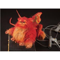 """Screen-used hero """"Fuzzball"""" animatronic puppet from Captain EO with Michael Jackson shoulder rig"""