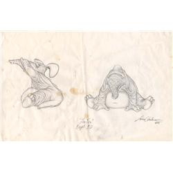 Pair of final concept designs by Lance Anderson for Captain EO
