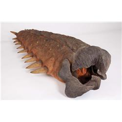 Full-size baby Graboid puppet from Tremors 4: The Legend Begins