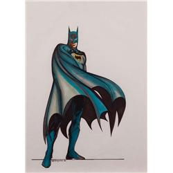 Bob Ringwood original Batman costume concept sketch for the 1989 Batman