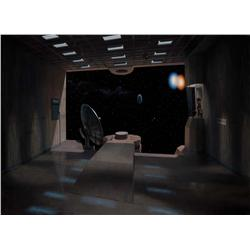John Carpenter's They Live Jim Danforth original acrylic matte glass painting of alien transporter