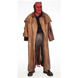 Signature Hellboy costume with animatronic cable-actuated tail from Hellboy