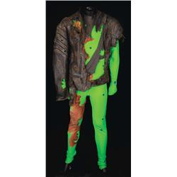 """Arnold Schwarzenegger """"The Terminator"""" grn scrn F/X jmpst & leather jkt frm T3: Rise of the Machines"""