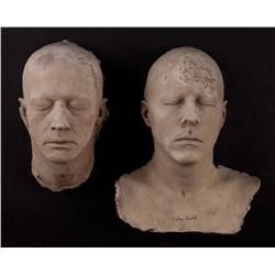 Collection of 16 Burman Studio lifecasts of Arnold Schwarzenegger, Leonard Nimoy and others