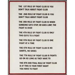 Framed fight club rules from Fight Club