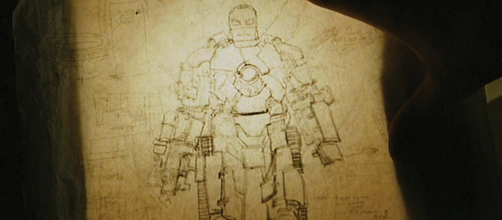 ... Image 5 : Hero Schematics Of The Mark I Helmet And Suit Designs From Iron  Man