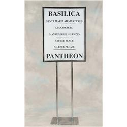 Pair of Basilica signs from Angels & Demons