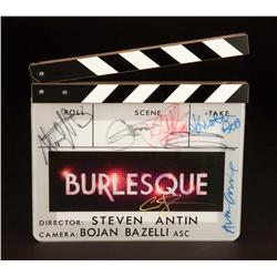 Cast-signed production-used clapper from Burlesque