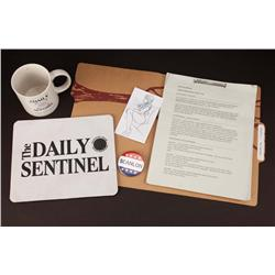Research report, Daily Sentinel mouse pad, coffee mug and other items from The Green Hornet