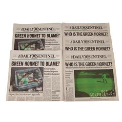Five Daily Sentinel prop newspapers from The Green Hornet