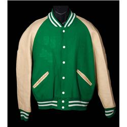 """Britt Reid"" as played by Seth Rogen letterman jacket and motorcycle jacket from The Green Hornet"