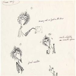 Original Tim Burton hand-drawn ink studies for Vincent