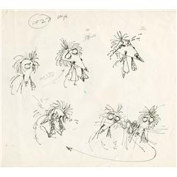 Original Tim Burton hand-drawn ink sketches for Vincent