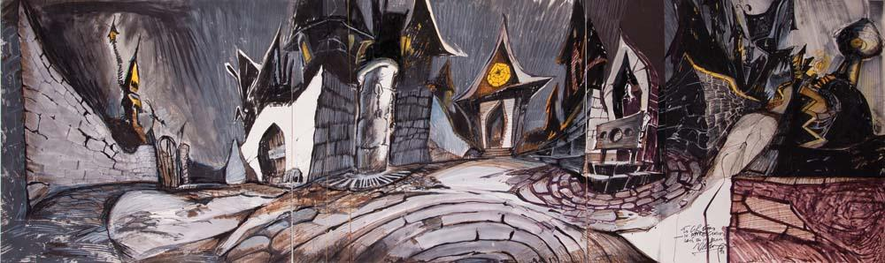 Original Deane Taylor Halloween Town concept artwork from The ...