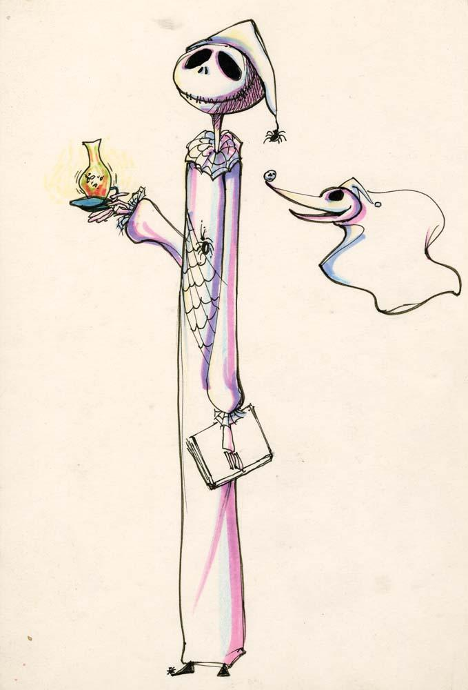 Jack Skellington and Zero concept artwork from The Nightmare Before ...