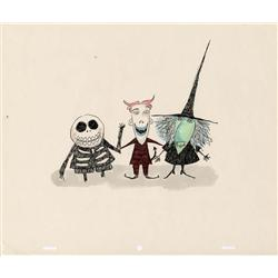 Original Tim Burton artwork for Lock, Shock and Barrel from  The Nightmare Before Christmas
