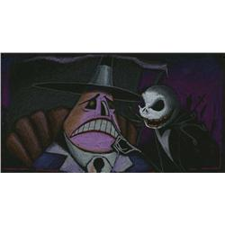 Original color concept storyboards from  The Nightmare Before Christmas