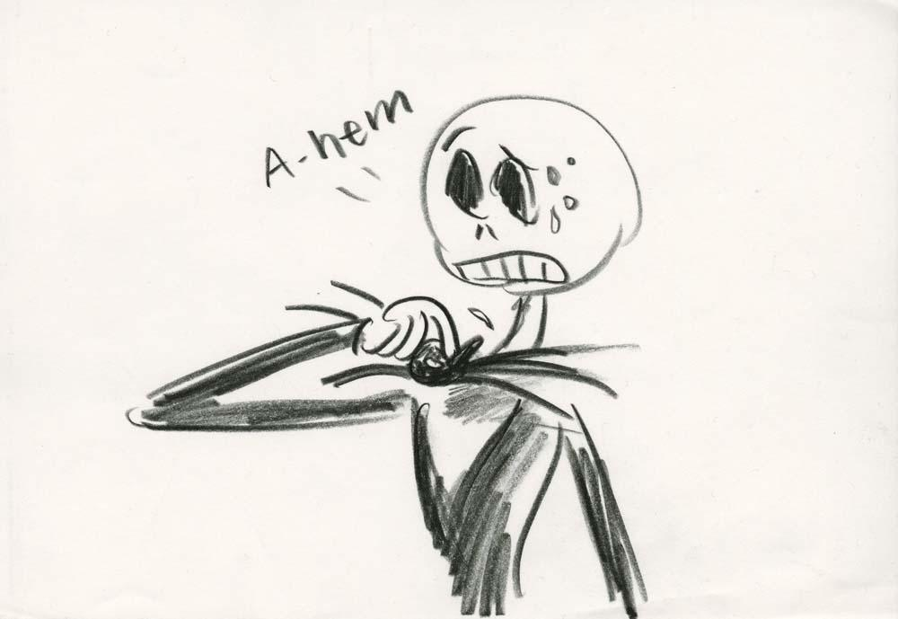 Four preliminary storyboard sketches from The Nightmare Before ...