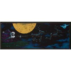 "Jack Skellington ""Santa Jack"" & sleigh panoramic concept art from The Nightmare Before Christmas"