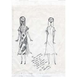 Concept poster design artwork of Sally for The Nightmare Before Christmas