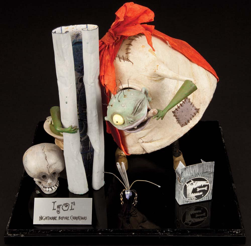 The Nightmare Before Christmas screen-used Igor puppet, Sally's ...