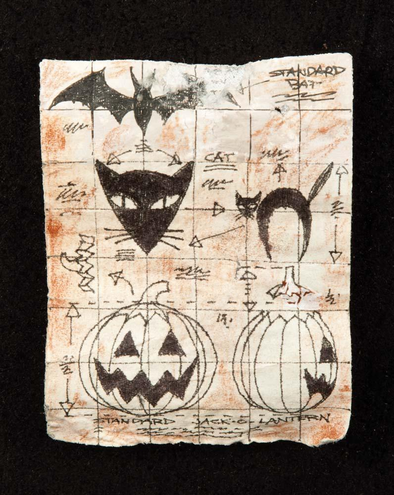 Mayor's screen-used Halloween Plans from The Nightmare Before ...
