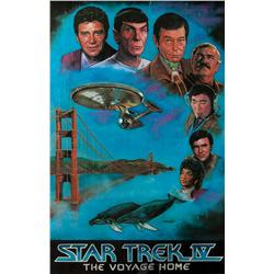 Cheryl Freundt original pastel artwork of Star Trek IV for Lincoln Enterprises, plus printed poster